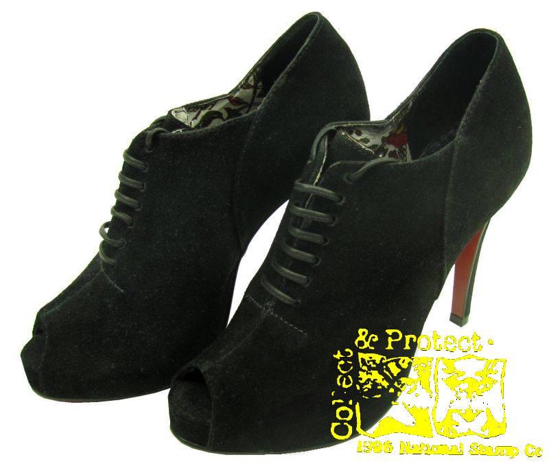 colcci ankle boots high heels schwarz rot leder absatz ebay. Black Bedroom Furniture Sets. Home Design Ideas
