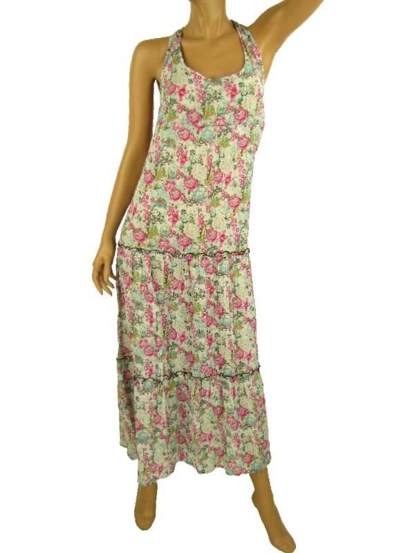 oneill kleid dress sommerkleid gr m indies weiss pink traeger blumen ebay. Black Bedroom Furniture Sets. Home Design Ideas