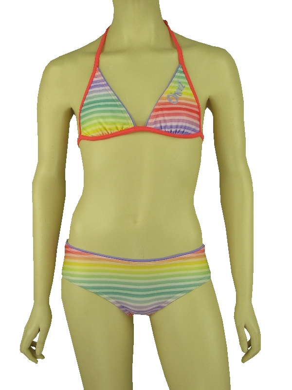 o 39 neill bikini rainbow hotpant gelb rot neckholder. Black Bedroom Furniture Sets. Home Design Ideas