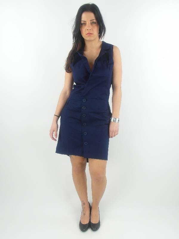 Skunkfunk-Traegerkleid-Kleid-Sommerkleid-Kaia-blau-Reverskragen-NEU