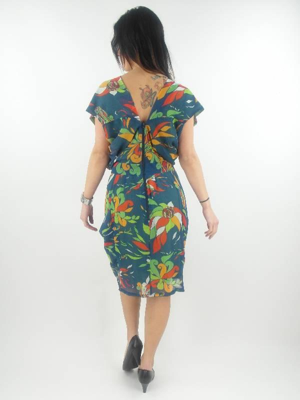 original Skunkfunk Kleid Sommerkleid Basoa blau Muster ...