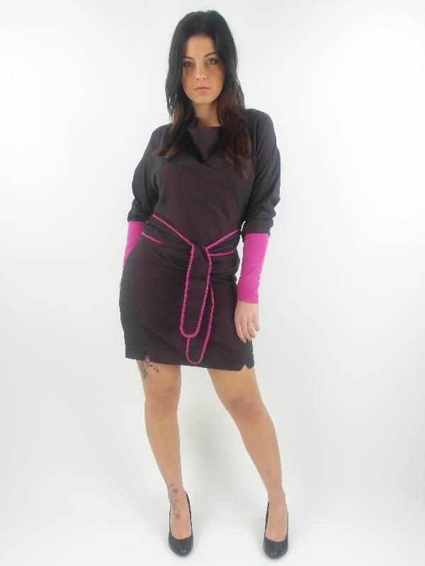 original-Skunkfunk-Kleid-Sommerkleid-Abesti-lila-zweilagig-langarm-NEU