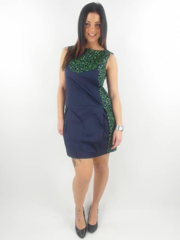 original-Skunkfunk-Kleid-Sommerkleid-Burgoa-blau-Muster-Reissverschluss