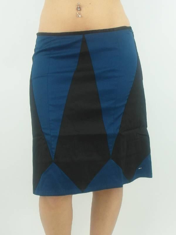 original-Skunkfunk-Rock-Skirt-Ekine-schwarz-blau-A-Form-Reissverschluss