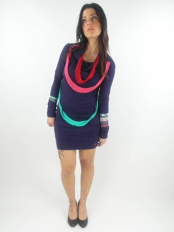 original-Skunkfunk-Kleid-Sommerkleid-Ugarana-lila-Bambus-langarm-NEU