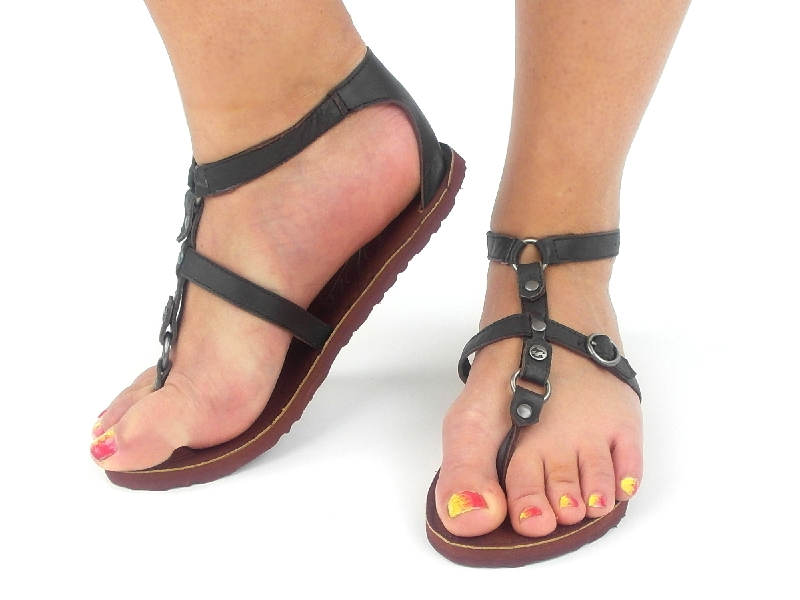 original billabong zehentrenner sandalen jazzy braun leder eva neu ebay. Black Bedroom Furniture Sets. Home Design Ideas