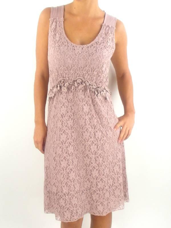 original Cream Kleid Dress Trägerkleid altrosa Rundhals ...