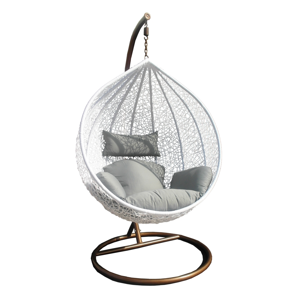 swing chair h ngesessel h ngestuhl polyrattan schwebesitz lounge ebay. Black Bedroom Furniture Sets. Home Design Ideas