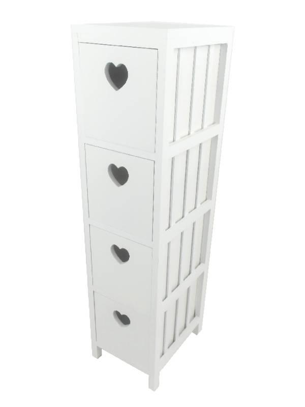schrank regal kommode wei landhaus schubkasten holz. Black Bedroom Furniture Sets. Home Design Ideas
