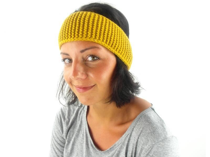 O\'Neill Stirnband Headband Auricle gelb Häkelmuster Ohrenwärmer | eBay