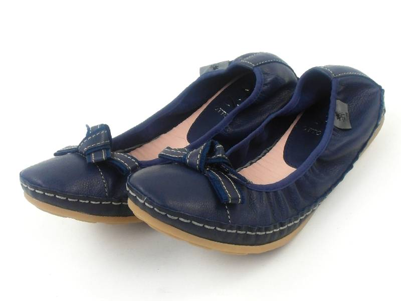 original otto kern ballerinas schuhe 70230 2200 blau leder schleife ebay. Black Bedroom Furniture Sets. Home Design Ideas