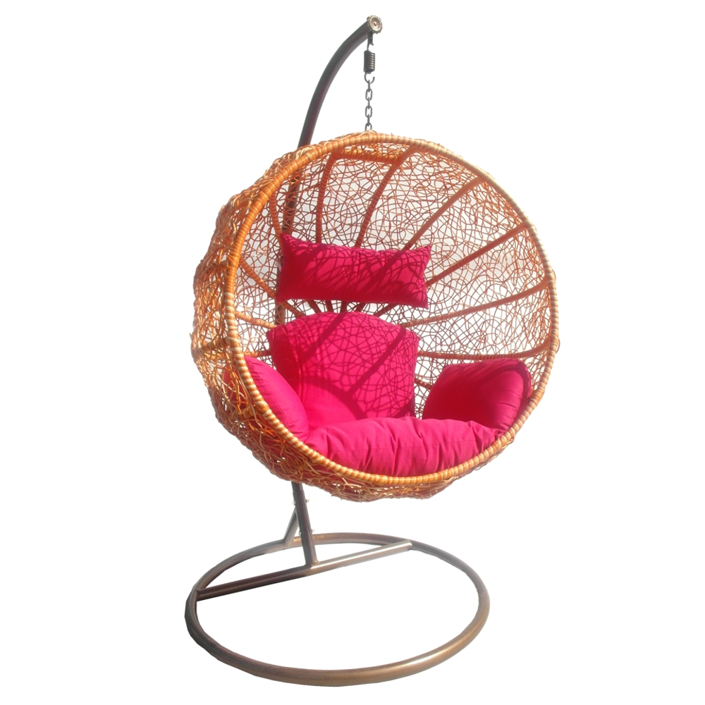 Swing chaise si ge suspendre fauteuil rotin synth tique - Chaise a suspendre ...