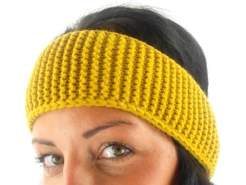 O\'Neill Stirnband Headband Auricle gelb Häkelmuster Ohrenwärmer   eBay