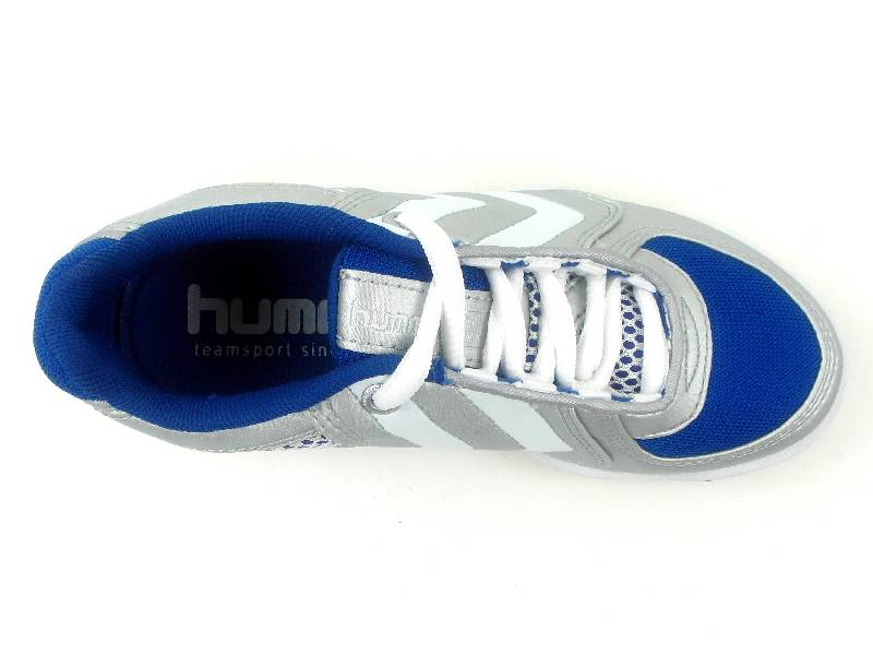 hummel sneaker turnschuhe handball schuhe 1 3 junior silber blau. Black Bedroom Furniture Sets. Home Design Ideas