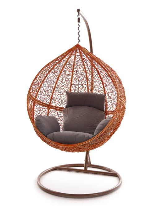 swing chair h ngesessel wei h ngestuhl schwarz polyrattan. Black Bedroom Furniture Sets. Home Design Ideas