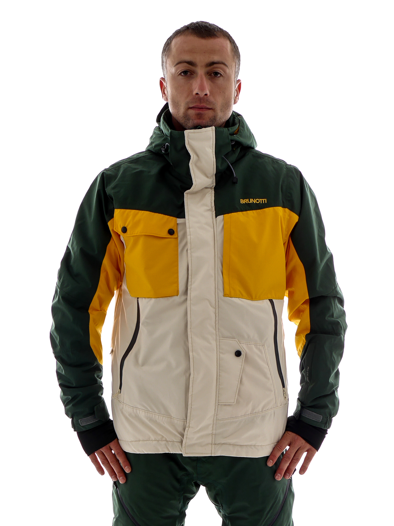 brunotti ski jacket snowboard jacket melania beige 0 5
