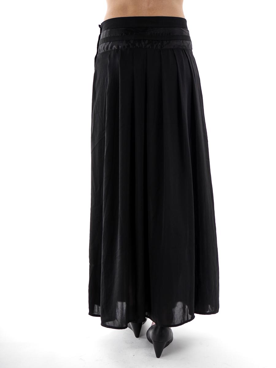 maxi skirt pleated skirt davis maxi black zip
