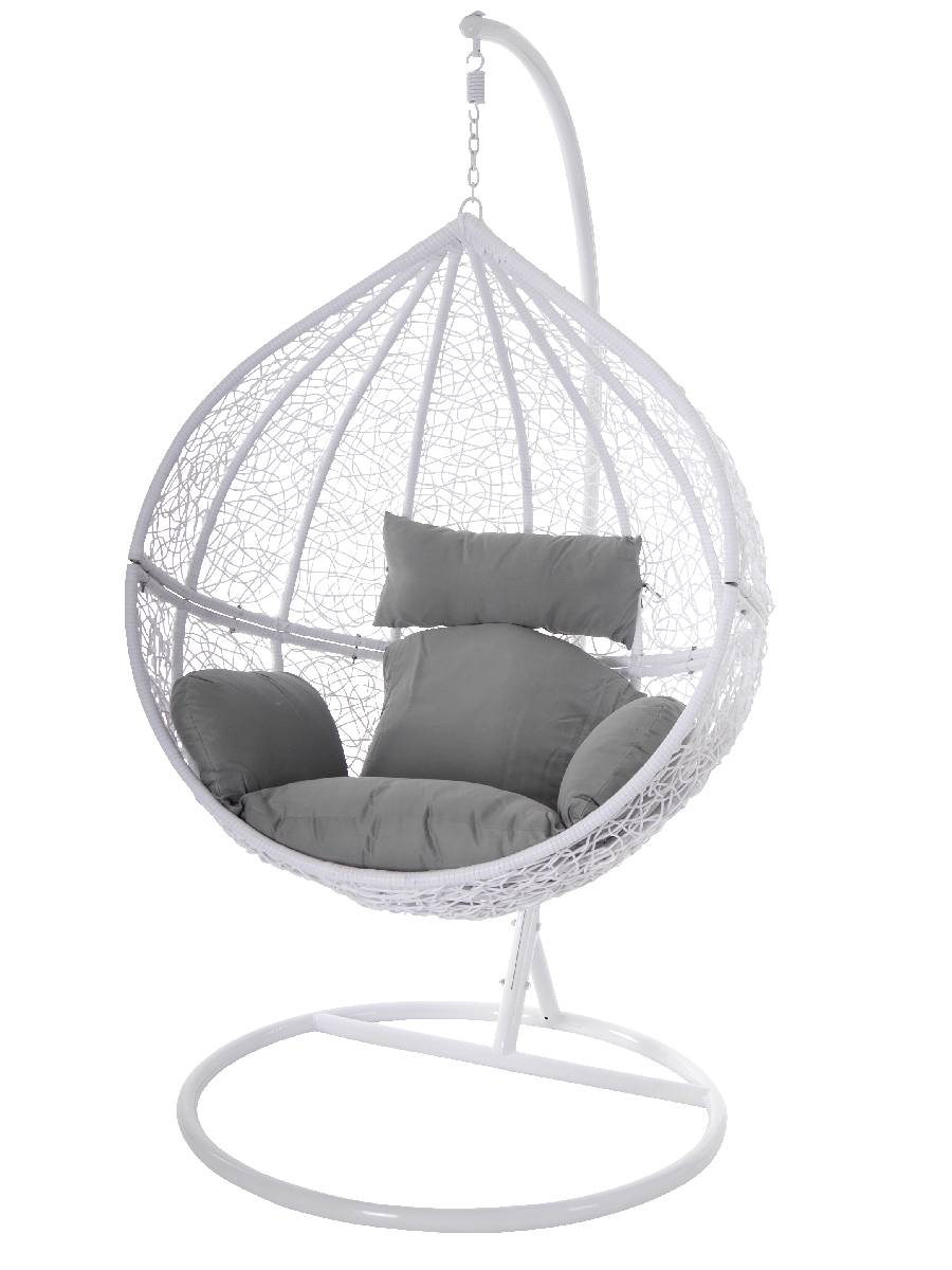 swing chair h ngestuhl h ngesessel wei polyrattan tropfen. Black Bedroom Furniture Sets. Home Design Ideas