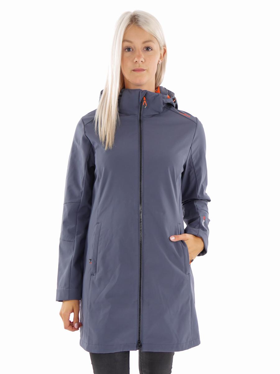 CMP Campagnolo Softshell Damen Jacke Mantel Stretch CLIMAProtect® Gr.44 NEU