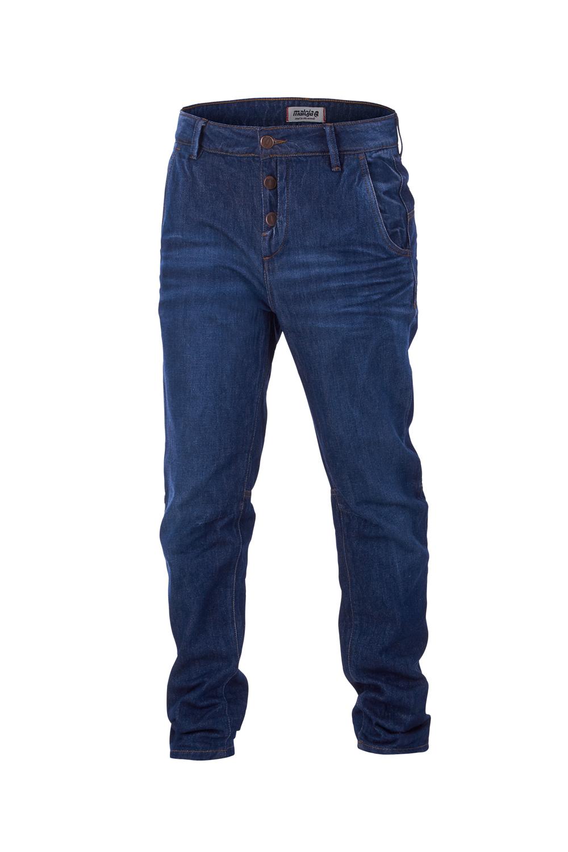 Maloja jeans pantaloni pants clarnom. blu look usato 5 tasche regular fit