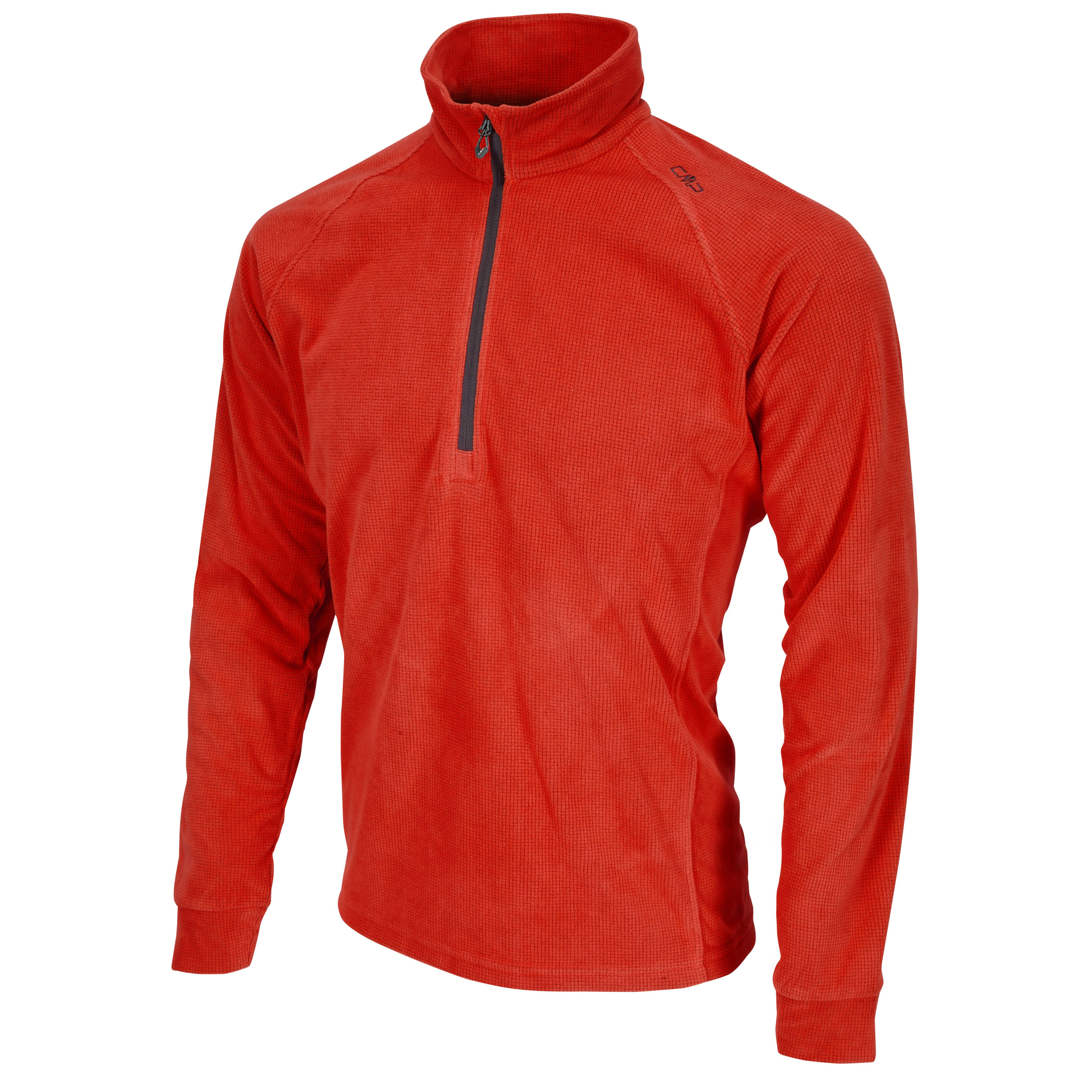 CMP-Sudadera-de-polar-Camiseta-con-cuello-Puente-de-la-funcion-rojo-Cremallera