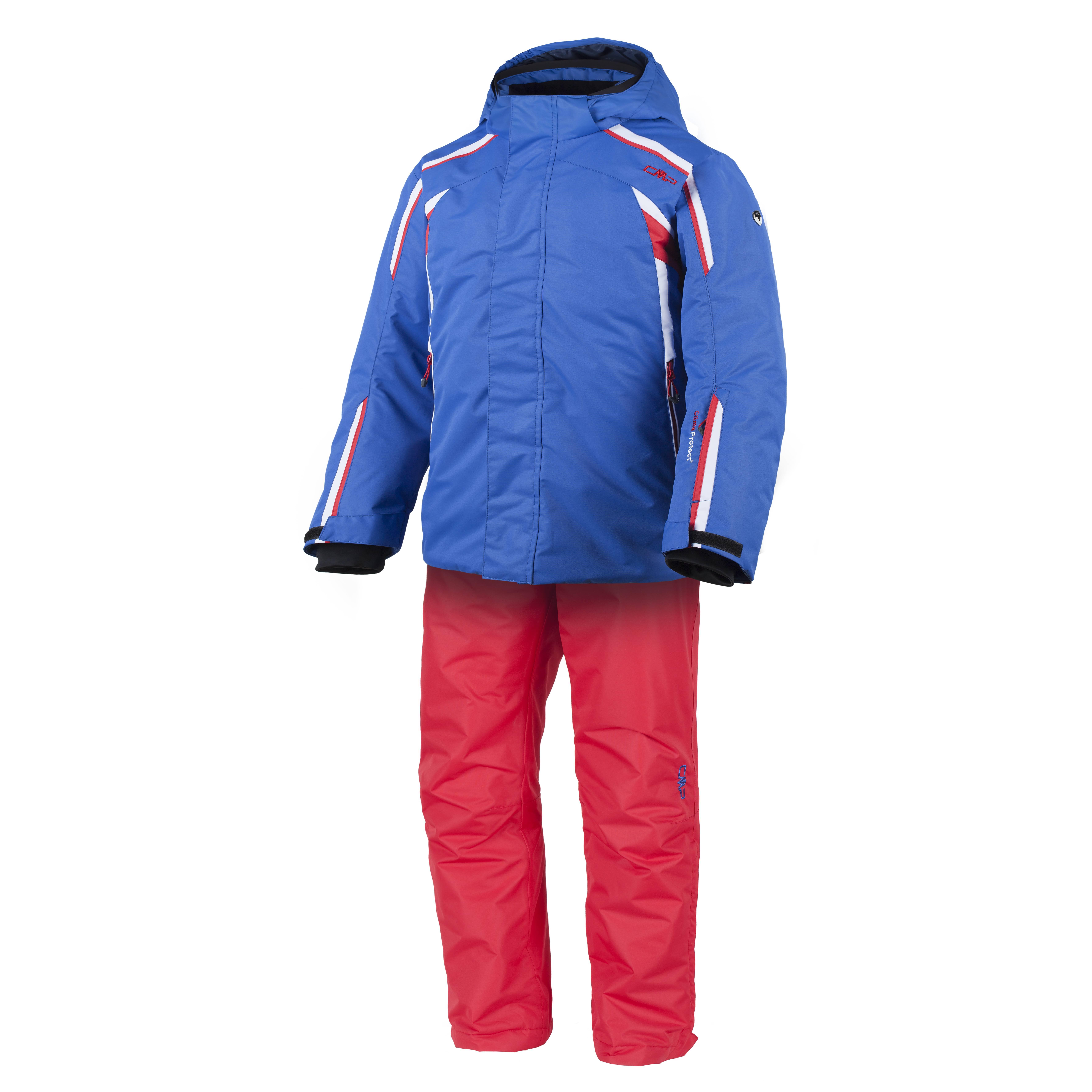 CMP-Set-Esqui-Chaqueta-Pantalones-blau-impermeable-ClimaProtect-abrigados