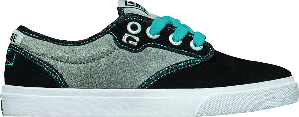 Globe Deportiva Con Cordones Zapato bajo Motley-Kids negro gris Cuero Goma