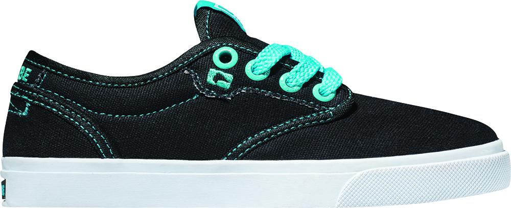 Globe Sneaker Stoffschuh Schnürer Halbschuh Motley-Kids schwarz Gummi