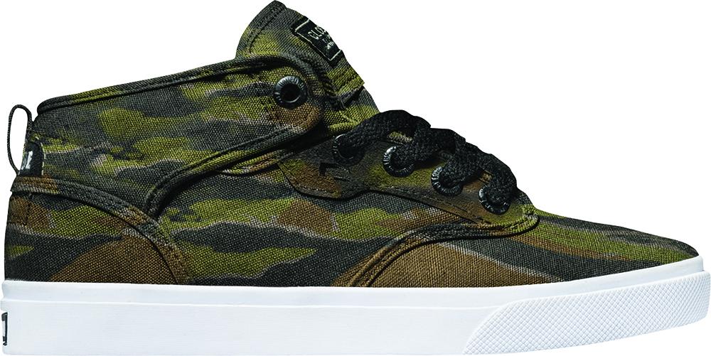 Globe Sneaker Schnürer Kinderschuh Motley Mid-Kids grün camouflage