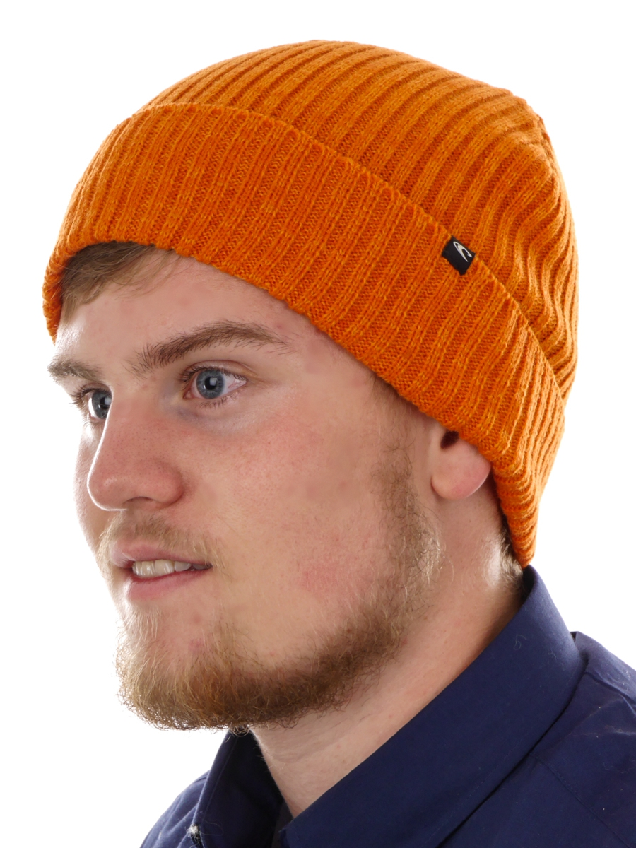 3105caa6d1e Details about O Neill Beanie Knitted Winter Hat Orange Everyday Patch  Ribbed Knit