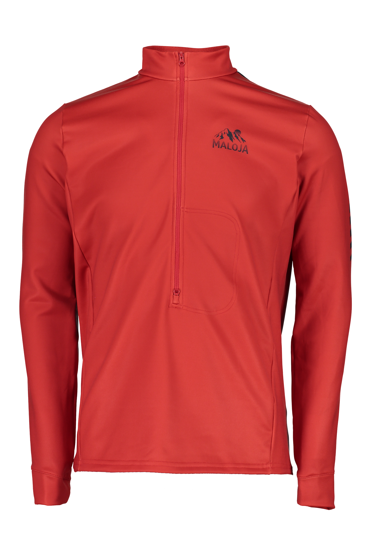 Maloja Multi Sport Shirt funzione parte superiore rosso prestonm. Stretch Caldo