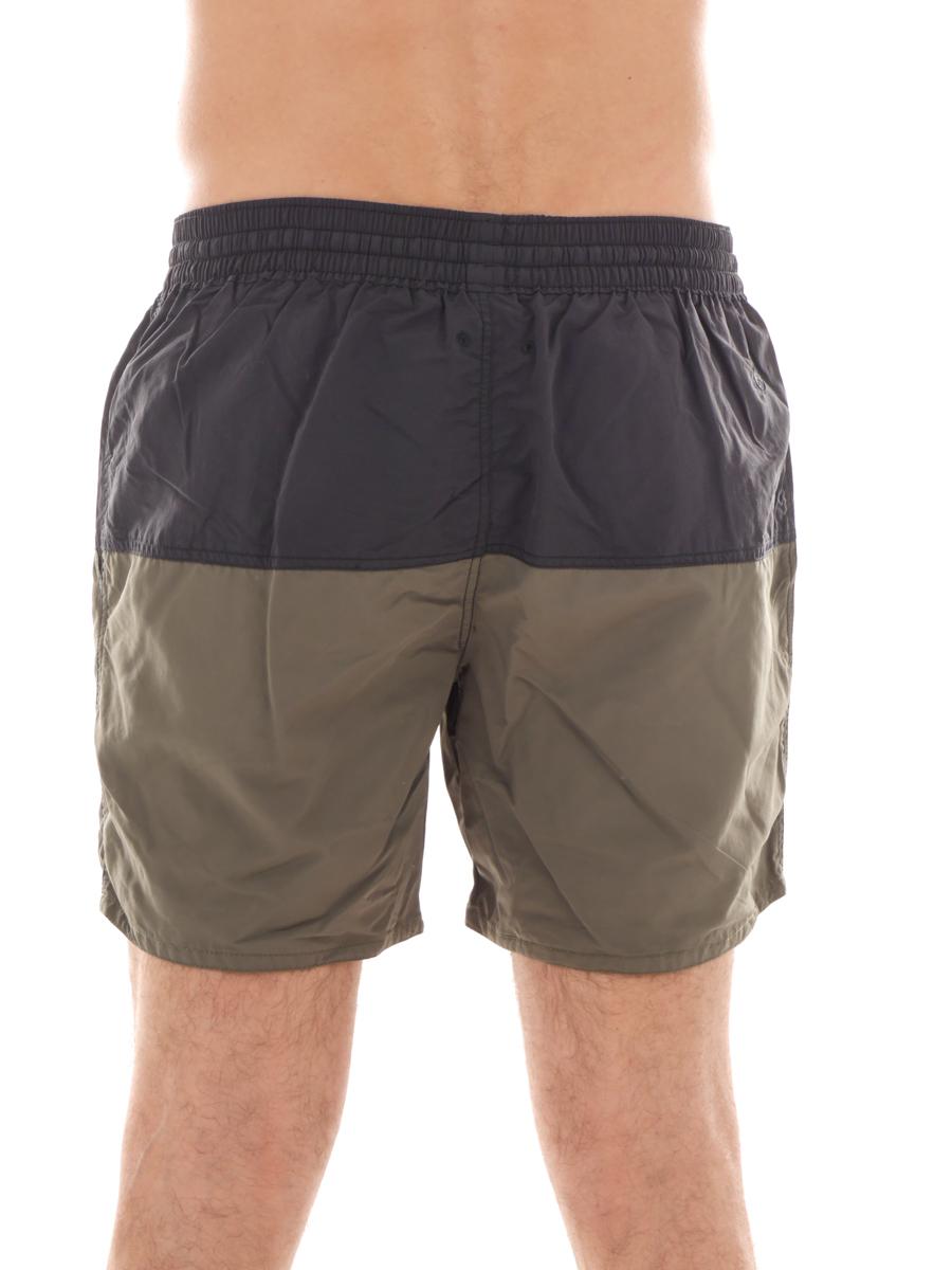 Burnside bu9301 Solid Board Shorts Pantaloncini Da Bagno Costume Boarder Bermuda Nero