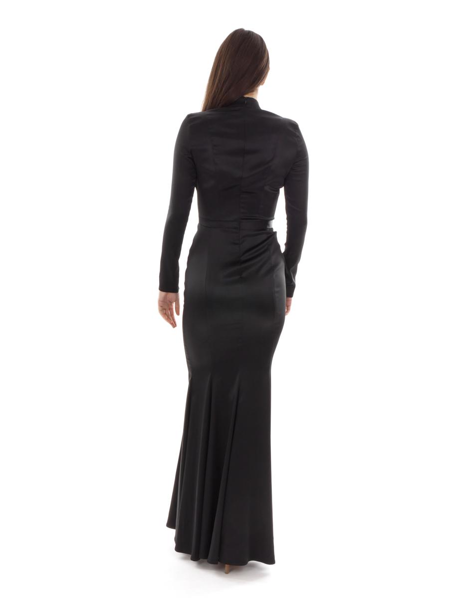 6be4765e956cc Richard Kravetz Kleid Abendkleid Seidenkleid schwarz Meerjungfrau lang