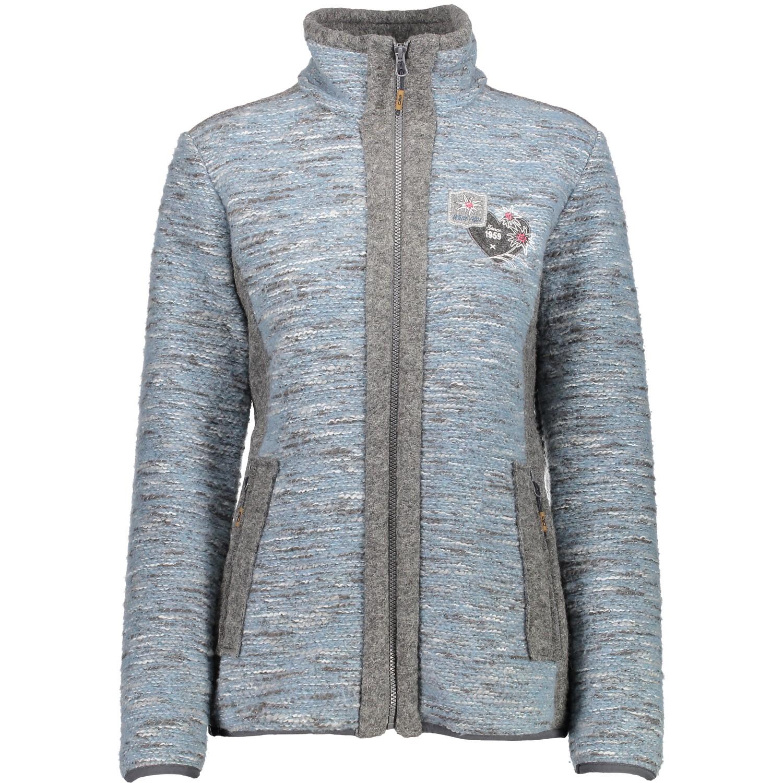 CMP Funktionsjacke Wolljacke Strickjacke grau WoolTech wärmeisolierend