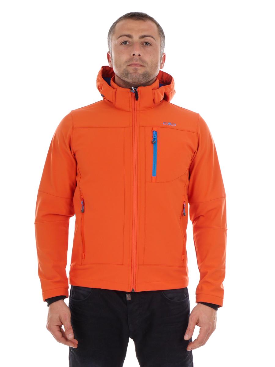 CMP Softshelljacke Funktionsjacke orange winddicht Kapuze Stretch