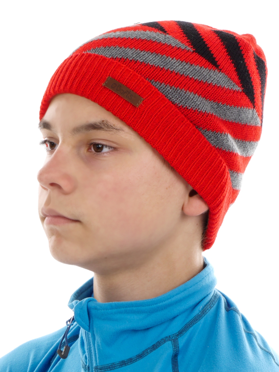 new collection authentic quality sale Barts Beanie Knitted Cap Red Moro Fine Knit Pattern Warm | eBay
