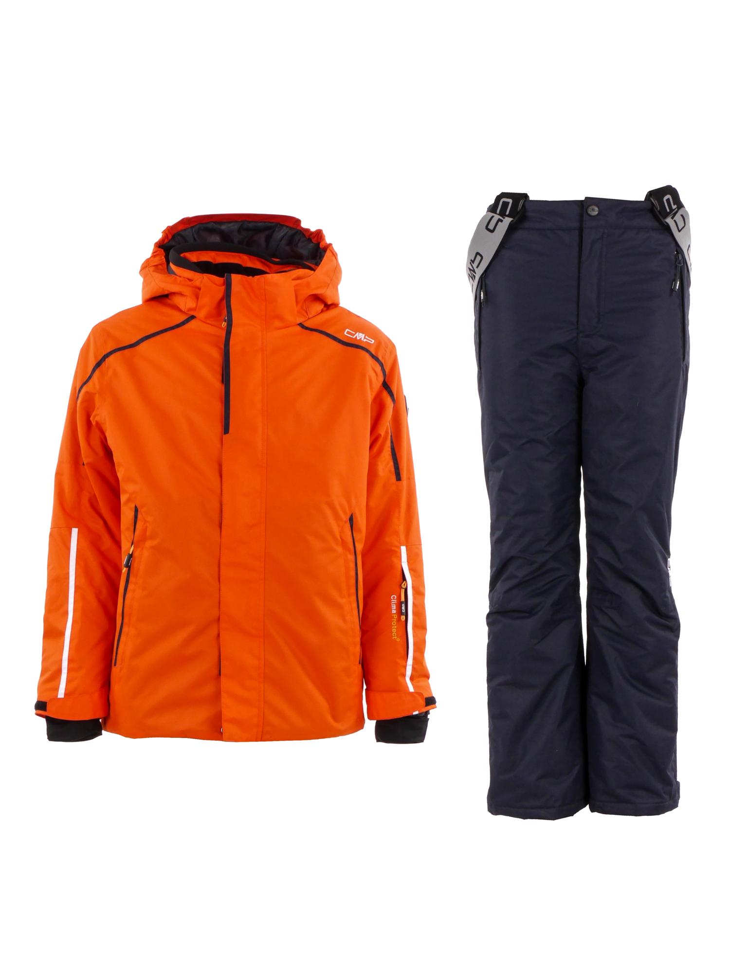 Details zu CMP Ski Set Skijacke und Skihose Kids Kinder Jungen orange blau 3K