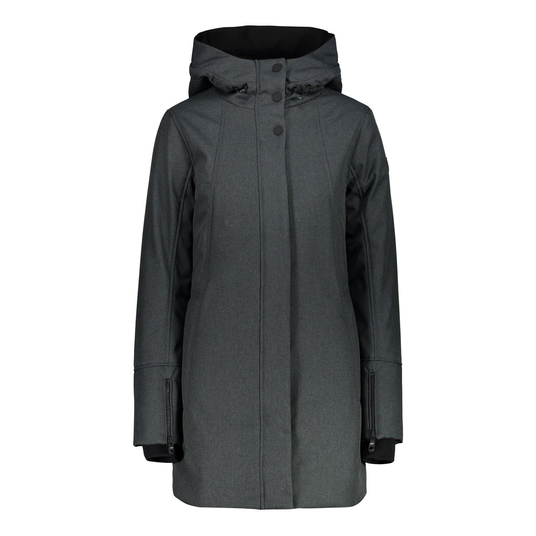 CMP Outdoorjacke Jacke WOMAN PARKA FIX HOOD dunkelgrün winddicht