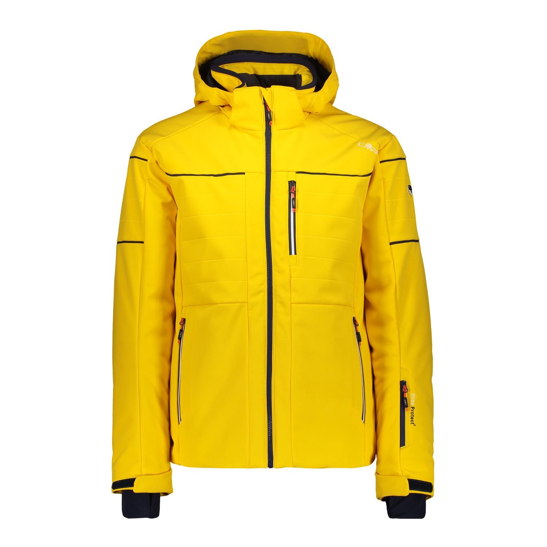 Details zu CMP Skijacke Snowboardjacke MAN JACKET ZIP HOOD gelb wasserdicht atmungsaktiv