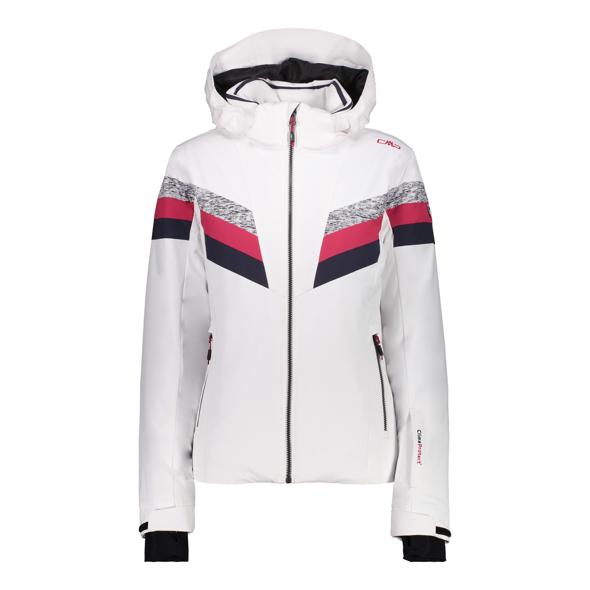 Jacket CMP Woman White Jacket Jacket CMP Zip Snowboard Ski