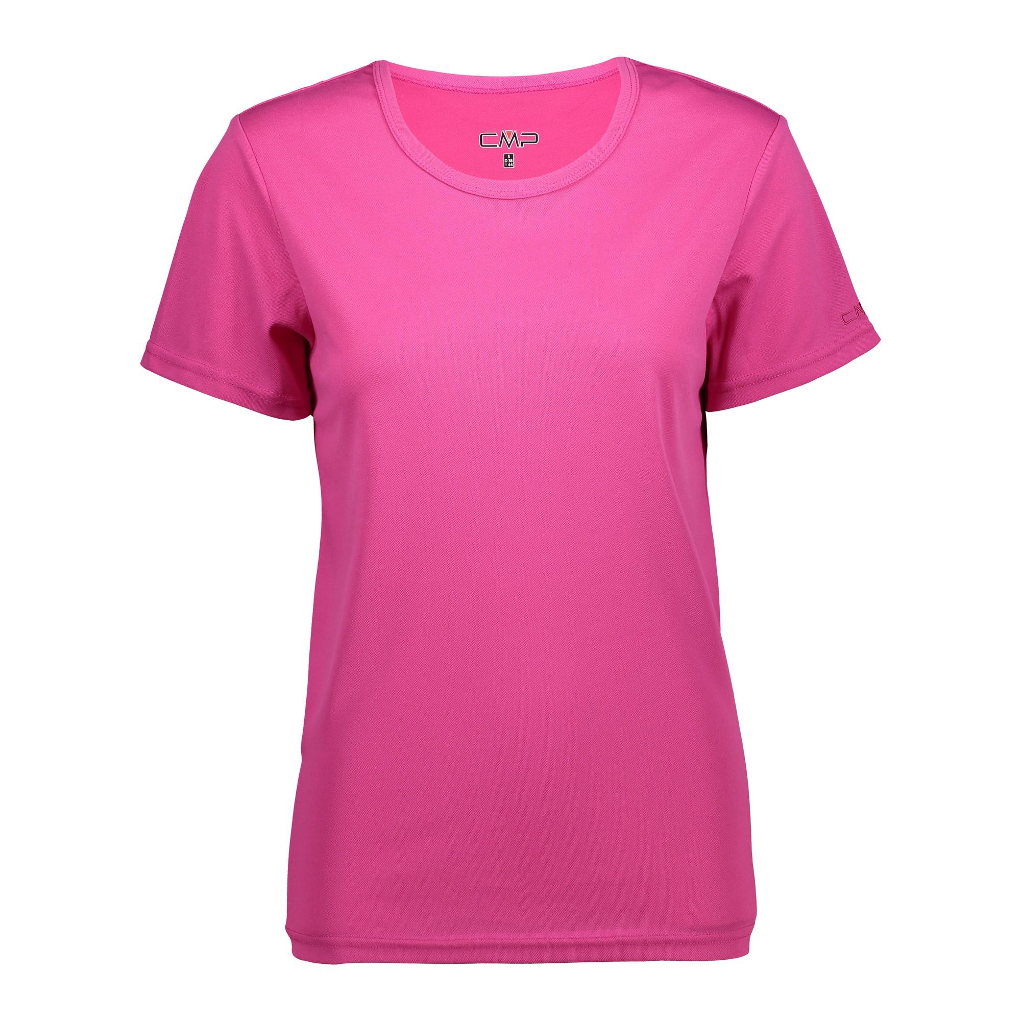 CMP Funktionsshirt Shirt WOMAN T-SHIRT blau atmungsaktiv antibakteriell Piqué