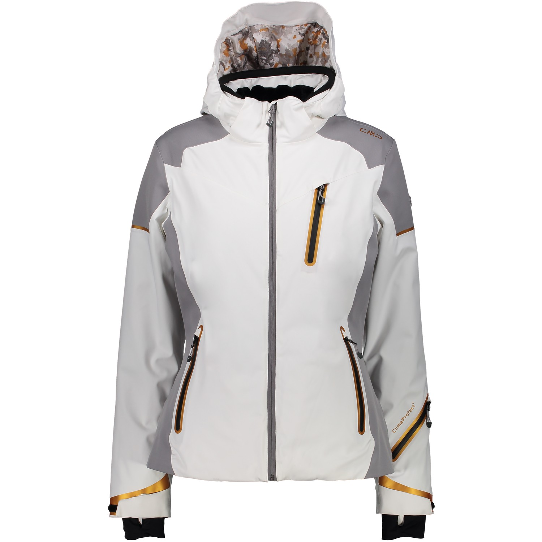 Snowboard De Sur Vent Blanc Zip Femme Hood Coupe Ski Détails Cmp Veste Yf76bgy