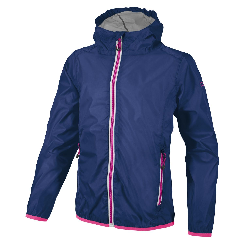 CMP Regenjacke Jacke Man Fix Hood Jacket blau winddicht wasserdicht