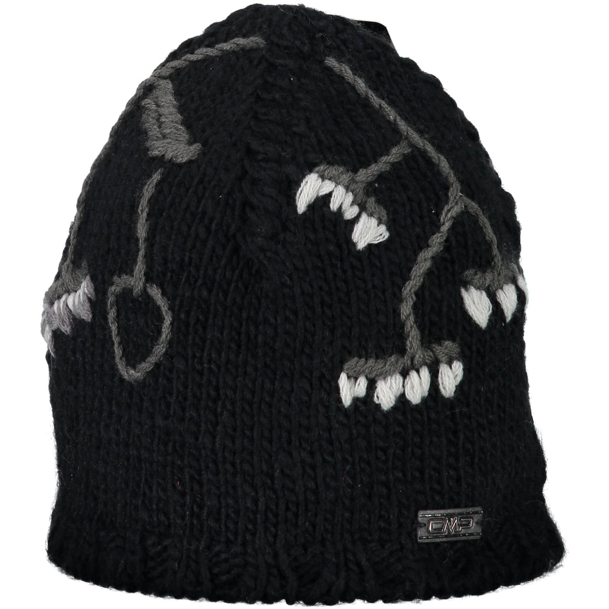 CMP Cap Beanie Woman s Knitted Hat Black Plain Fine Knit Flower  8731f32d038