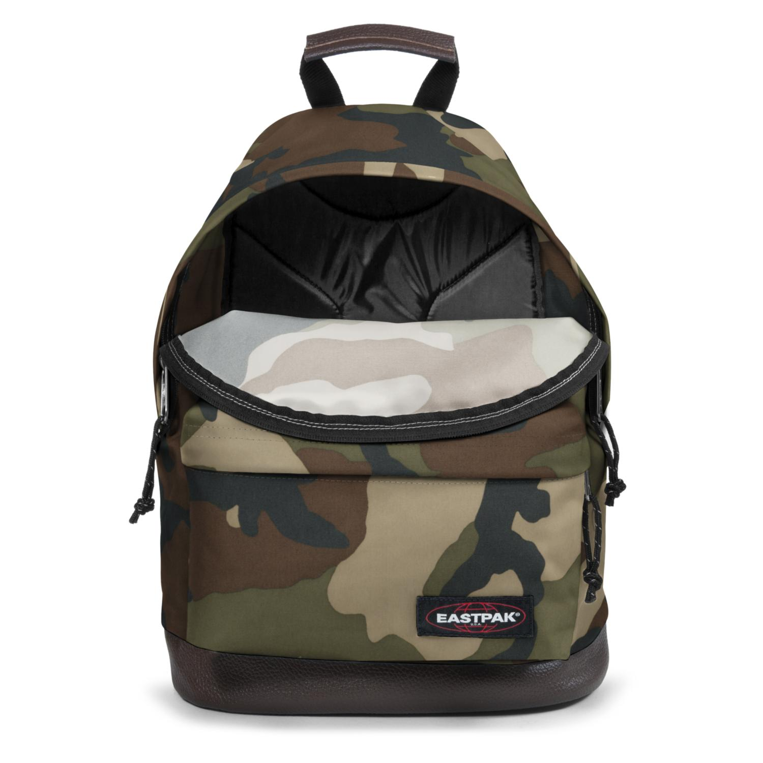 c61e9dde1f64 Details about Eastpak Backpack Wyoming Dark Green Camouflage Gepolsterer  Back