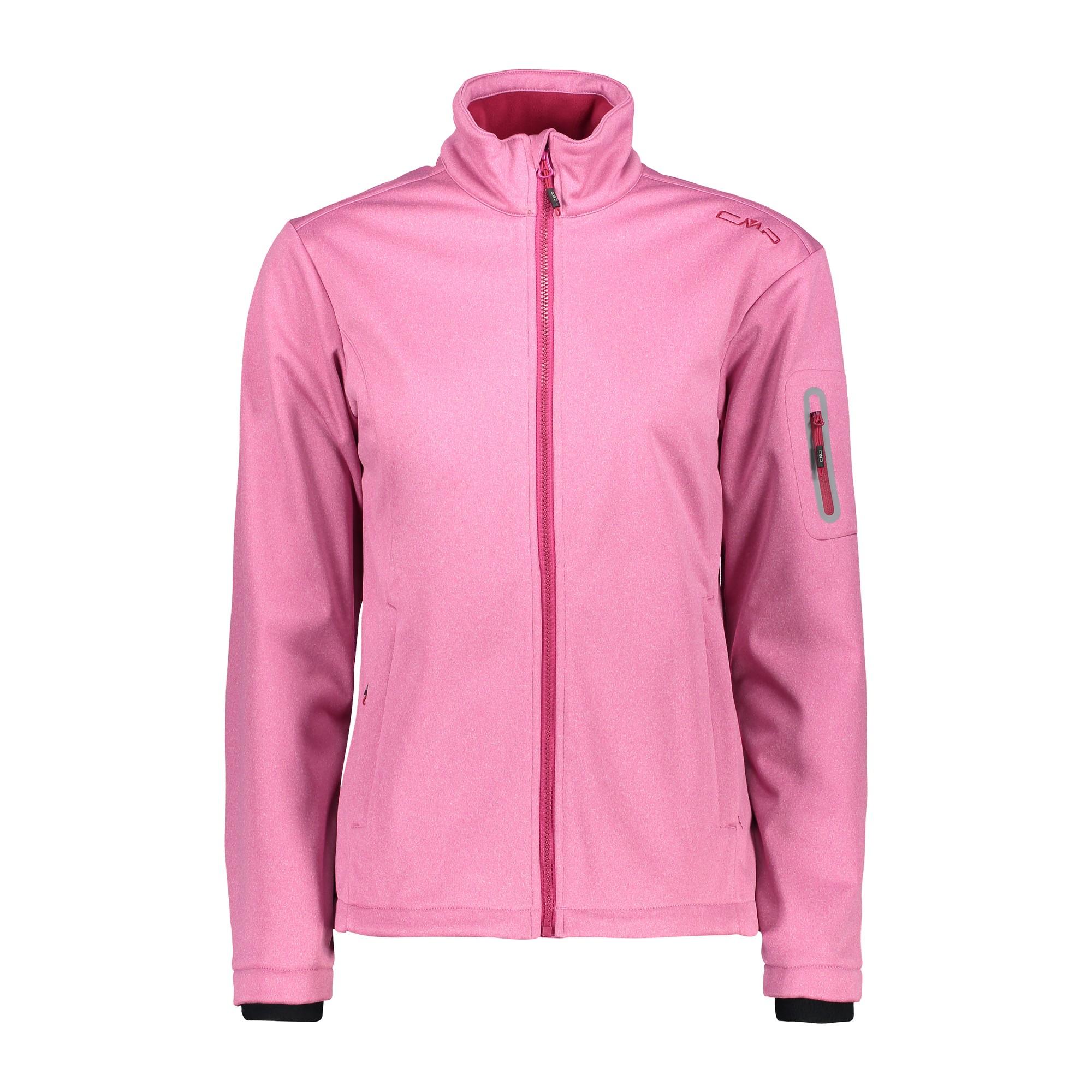 CMP Fleecejacke Jacke GIRL JACKET pink atmungsaktiv wärmend meliert Kinnschutz
