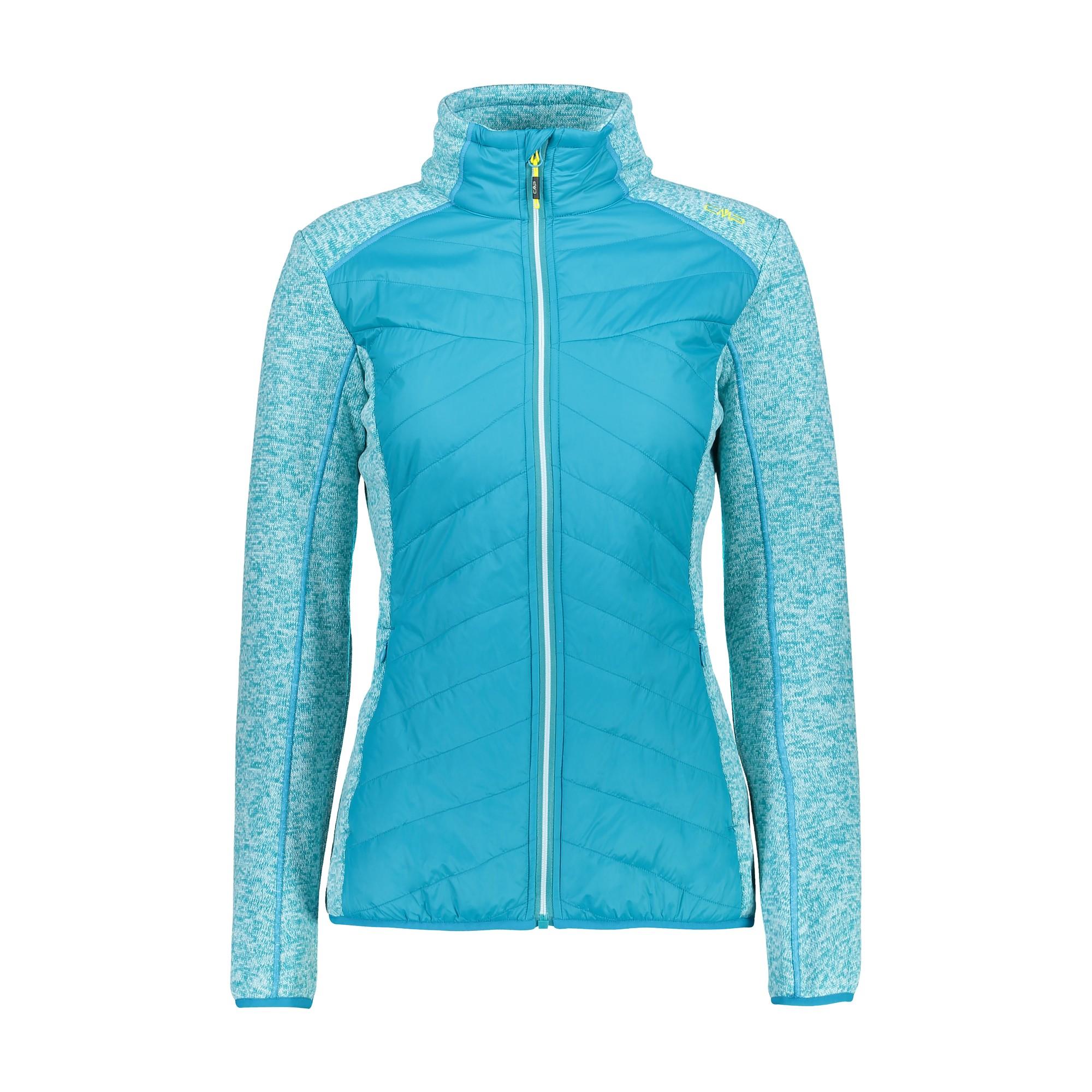 CMP Fleecejacke Funktionsjacke Jacket blau Kapuze isolierend warm
