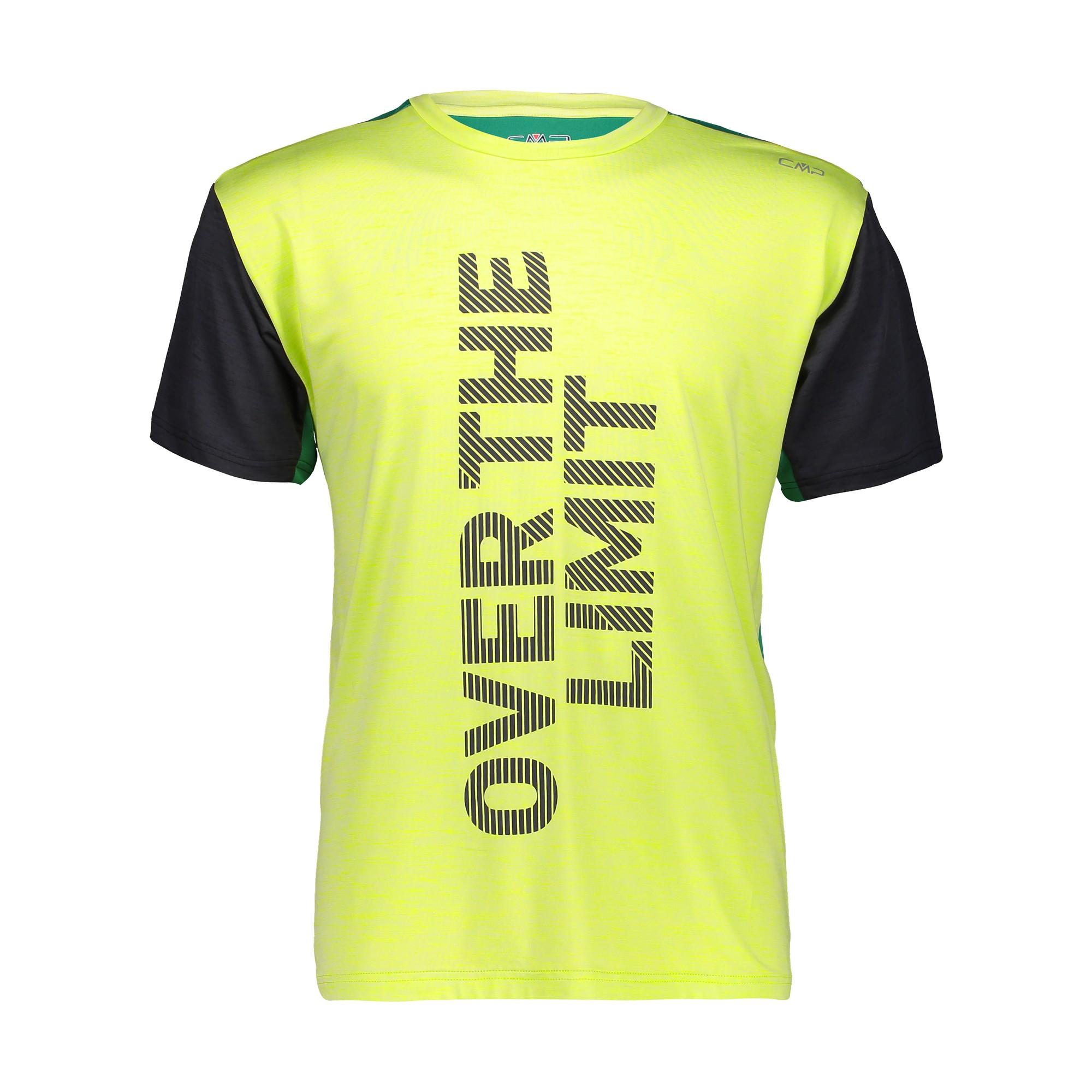 CMP Laufshirt Shirt Man Trail T-Shirt grau atmungsaktiv elastisch antibakteriell