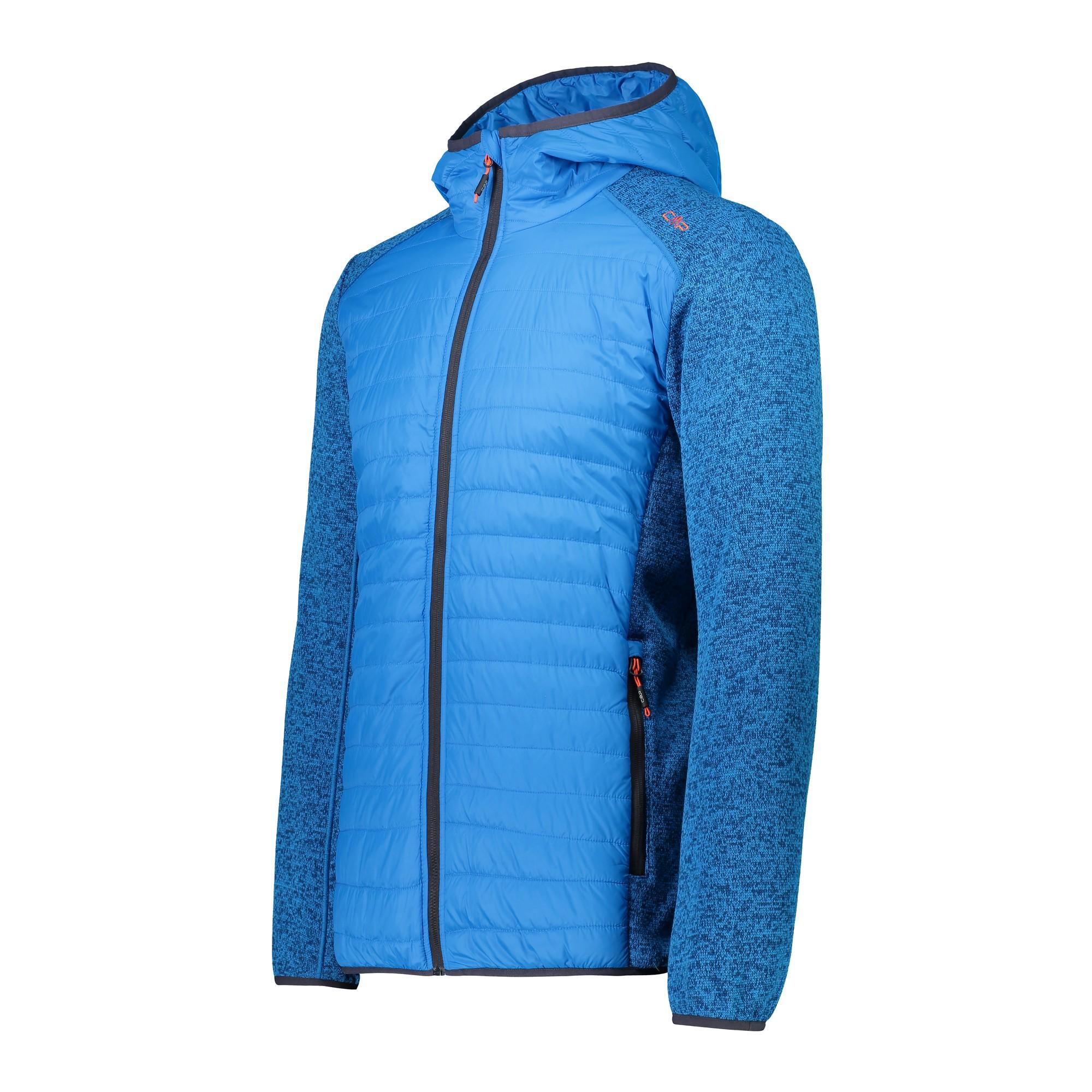 Details about CMP Hybridjacke Jacket Man Jacket Fix Hood Hybrid Blau Breathable Warming