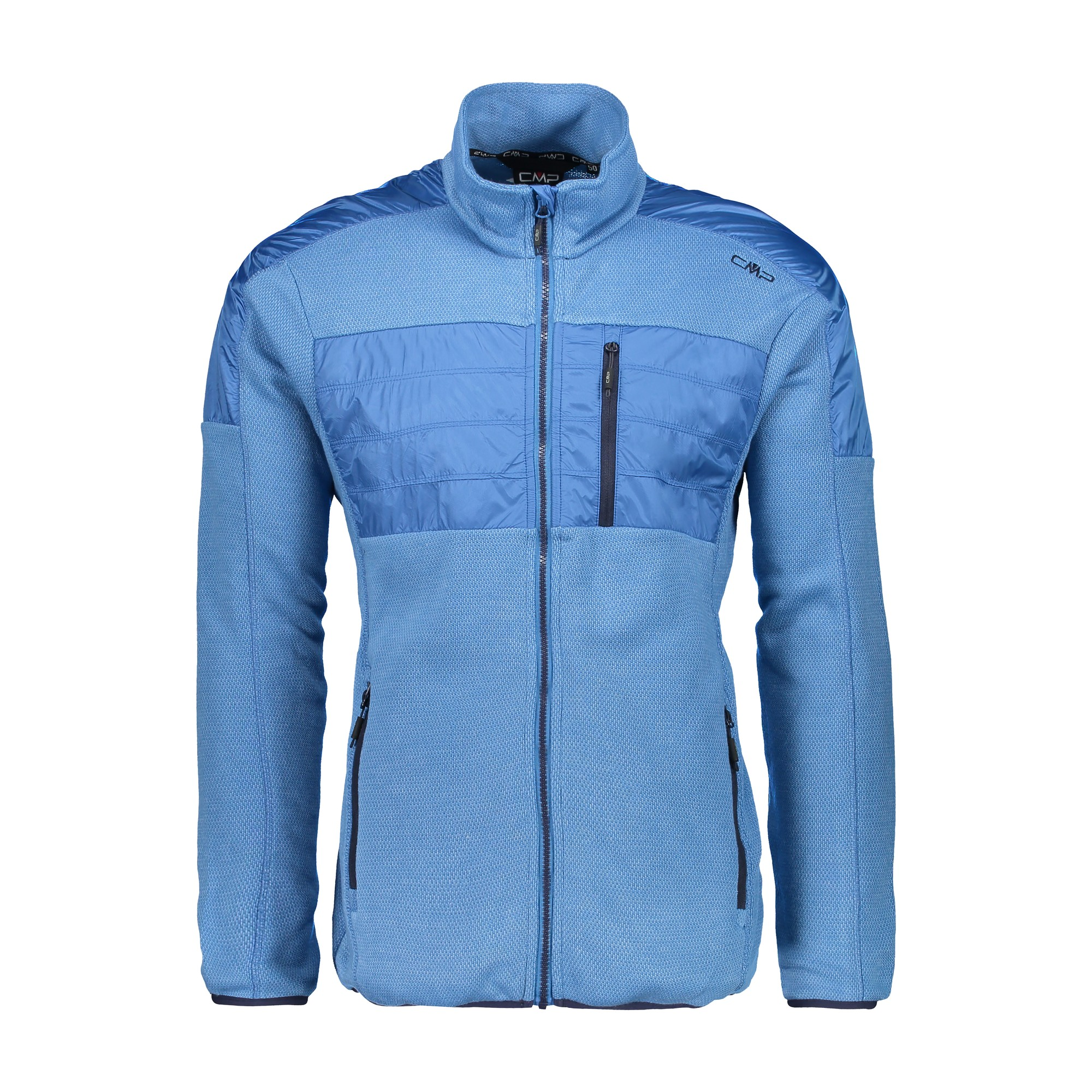 CMP Fleecejacke Jacke MAN JACKET blau atmungsaktiv elastisch wärmend Unifarben